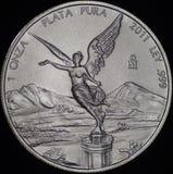 Mexicano Libertad Silver Coin (anverso) Imágenes de archivo libres de regalías
