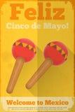Mexicano Maraca ilustración del vector
