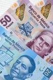 Mexicano Pasos - billetes de banco de México Fotografía de archivo libre de regalías