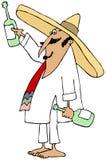 Mexicano Shoeless que faz um brinde Foto de Stock