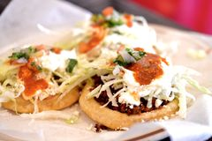 Mexicano Sopes combinado Imagem de Stock Royalty Free