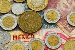 比索Mexicanos 免版税库存照片
