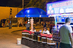 Mexicans are eating in a street market Royalty Free Stock Images