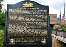 Mexicans in minnesota historical marker Stock Image