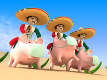 Mexicans from a sombrero Stock Images