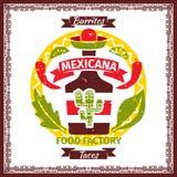 Mexicansk affisch för mattaco- och burritosmeny Fotografering för Bildbyråer
