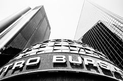 Mexicansk börs eller Bolsa Mexicana de Valores, Mexico - stad Arkivfoton