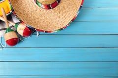 Mexicansk bakgrund med copyspace Arkivfoto