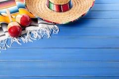 Mexicansk bakgrund med copyspace Royaltyfri Bild