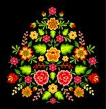 Mexicansk blom- modell royaltyfri illustrationer