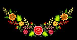Mexicansk blom- modell stock illustrationer