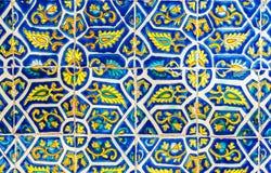 Mexicansk blom- tegelplattaabstrakt begreppbakgrund Royaltyfri Foto
