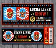 Mexicansk brottareuppsättning Lucha Libre Arkivfoto