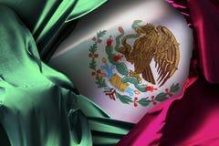 Mexicansk flagga, självständighetsdagen, beröm för cincode mayo arkivbild
