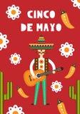 Mexicansk folk kortinbjudan Fotografering för Bildbyråer