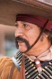 Mexicansk fredlös i lös västra show i gravstenen Arizona Arkivbilder