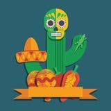 Mexicansk garnering stock illustrationer