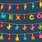 Mexicansk garnering royaltyfri illustrationer