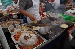 Mexicansk gatamat, comidamexicana arkivfoto