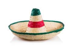 Mexicansk hatt/sombrero som isoleras på vit Arkivfoton