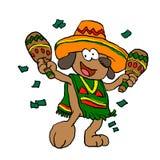 Mexicansk hund med maracas vektor illustrationer
