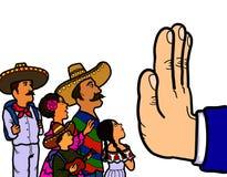 Mexicansk illegal invandrare stock illustrationer