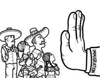 Mexicansk illegal invandrare royaltyfri illustrationer
