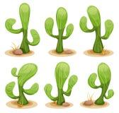 Mexicansk kaktusuppsättning vektor illustrationer