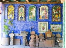 Mexicansk keramisk tegelplatta, Tecate Mexico Royaltyfri Foto