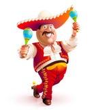 Mexicansk man som dansar den traditionella klänningen Arkivbilder