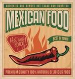 Mexicansk mat vektor illustrationer