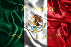Mexicansk nationsflagga med den Eagle Coat Of Arms 3D tolkningen Royaltyfria Foton