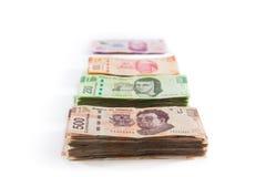 Mexicansk pengarbakgrund Fotografering för Bildbyråer