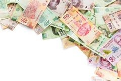 Mexicansk pengarbakgrund Arkivbilder