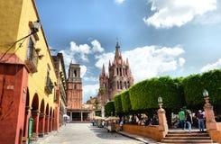 Mexicansk plaza arkivfoton