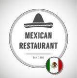 Mexicansk restauranglogo royaltyfri illustrationer