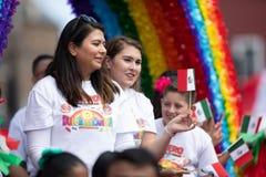Mexicansk självständighet ståtar royaltyfria bilder