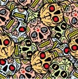 """Mexicansk sockerskalle, illustration för materiel """"för illustration†för materiel """"för Diameter de los Muertos symbolsset†Arkivbild"""