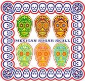 Mexicansk sockerskalleset Arkivfoto