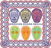 Mexicansk sockerskalleset Royaltyfria Bilder