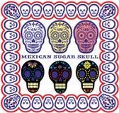 Mexicansk sockerskalleset Royaltyfri Bild