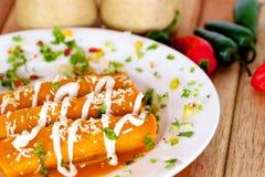 Mexicansk taco Fotografering för Bildbyråer