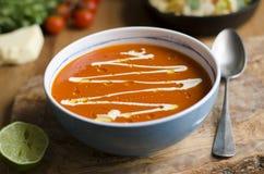 Mexicansk tomatsoppa Arkivbild