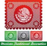 Mexicansk traditionell patriotisk garnering stock illustrationer