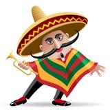 Mexicansk trumpetare Arkivfoto
