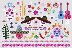 Mexicansk uppsättning elements5 vektor illustrationer