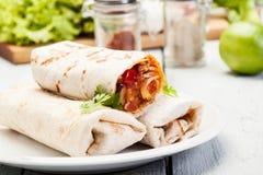 Mexicanska burritos Arkivbild