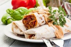 Mexicanska burritos Arkivfoton