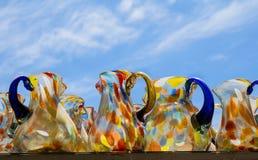 Mexicanskt exponeringsglas skorrar på bakgrund för blå himmel Royaltyfri Fotografi