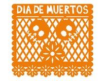 Mexicanskt garneringpapper Arkivfoto